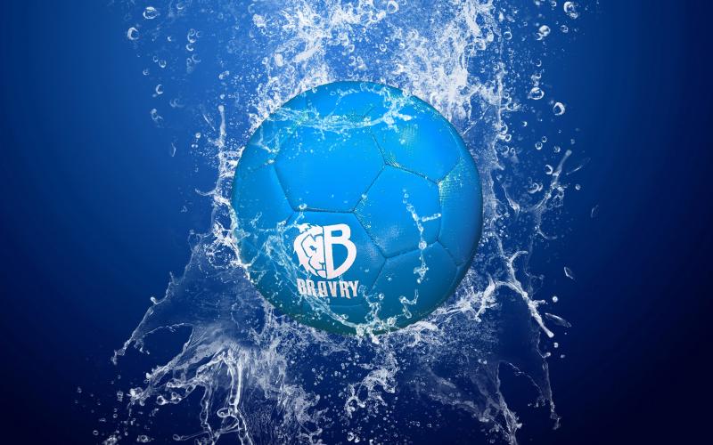 Мяч футбольный профессиональный: Bravry Galaxy Blue 4
