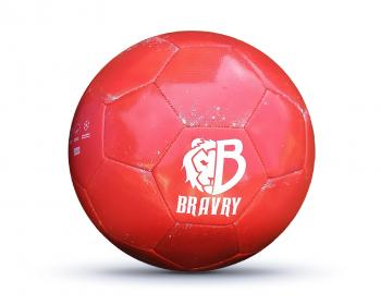 Мяч футбольный профессиональный: Bravry Galaxy Red 5