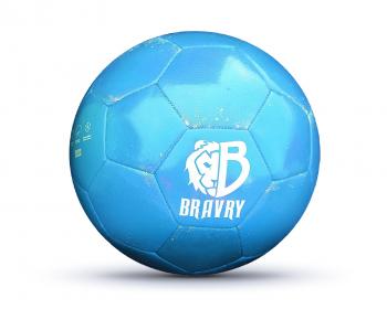 Мяч футбольный профессиональный: Bravry Galaxy Blue 5