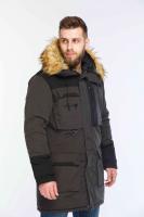 Крутая куртка Парка зимняя мужская Bravry Comfort (черная)