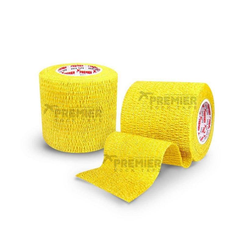 Premier Sock Tape Neon Yellow 5 cm Тейпы  для защиты  пальцев - 5 см х 4,5 м в рулоне