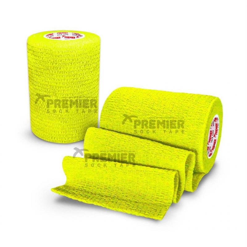 Premier Sock Tape Neon Yellow  7.5 cm Тейпы  для защиты  запястья - 7,5 см х 4,5 м в рулоне