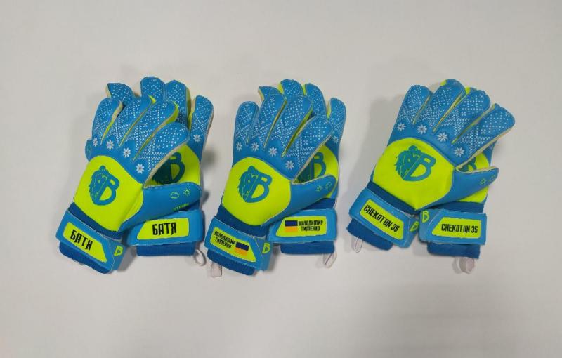 Детские вратарские перчатки Bravry Strong Blue/Yellow
