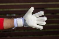 Детские вратарские перчатки Bravry Strong Roll-Flat Silver/White